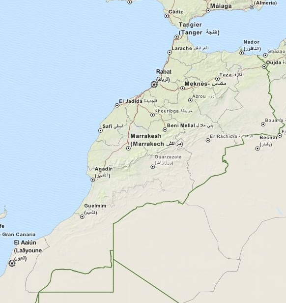 Mapa Maroka Przewodnik Po Maroko